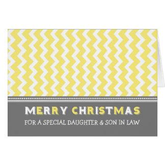 Felices Navidad de la hija y del yerno de Chevron Tarjetas
