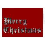 Felices Navidad de la impresión de Houndstooth Felicitacion