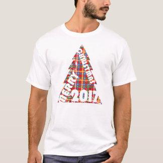 Felices Navidad de la marca de rayitas cruzadas Camiseta