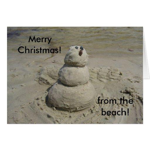 ¡Felices Navidad! ¡, de la playa! Felicitacion