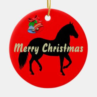 Felices Navidad de la silueta de Paso Fino Ornamentos De Navidad