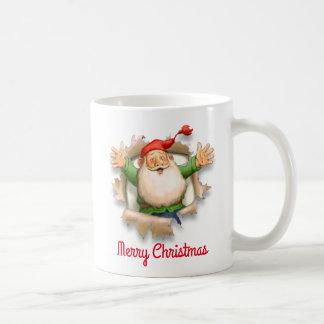 Felices Navidad de la sorpresa de Santa Taza De Café