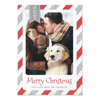 Felices Navidad de la tarjeta de la foto del