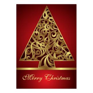 Felices Navidad de la tarjeta Tarjetas De Visita Grandes