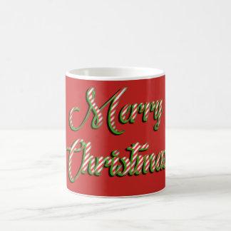 Felices Navidad de la taza del navidad que saludan