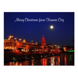 Felices Navidad de luces de la plaza de Kansas Postal