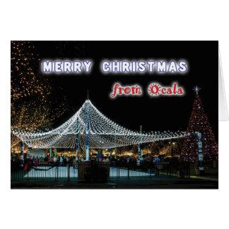 Felices Navidad de Ocala Tarjeta