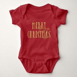 Felices Navidad de oro de Stardust Body Para Bebé