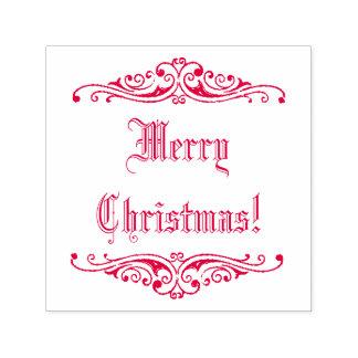 ¡Felices Navidad de saludo de la tinta del día de Sello Automático