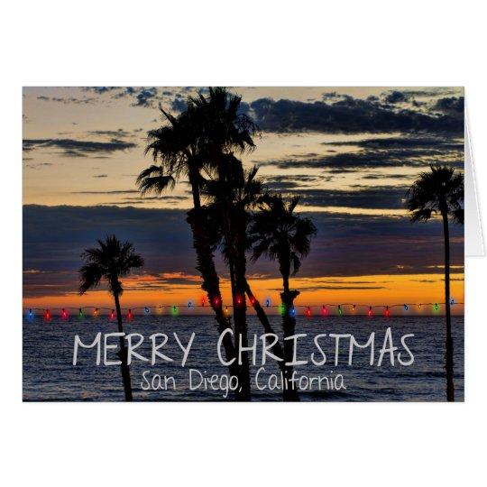 Felices Navidad de San Diego, California Tarjeta De Felicitación