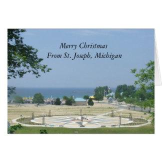 Felices Navidad de San José, Michigan Tarjeta De Felicitación