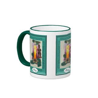 Felices Navidad, decoración brillante Taza A Dos Colores