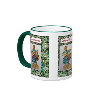 Felices Navidad, decoración brillante Tazas De Café