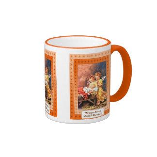Felices Navidad, decoración brillante Taza De Café