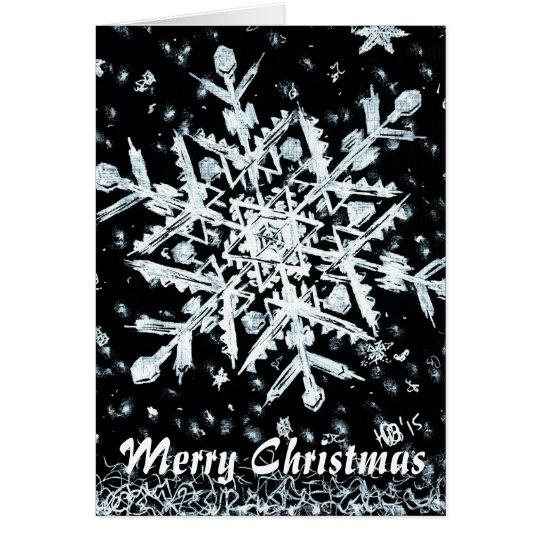 Felices Navidad del copo de nieve especiales Tarjeta Pequeña