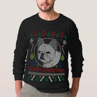 Felices Navidad del dogo francés feas Sudadera