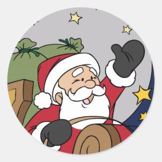Felices Navidad del ejemplo del trineo de Santa Etiquetas