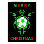 Felices Navidad del fútbol tribal Felicitaciones
