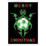 Felices Navidad del fútbol tribal Tarjeta De Felicitación