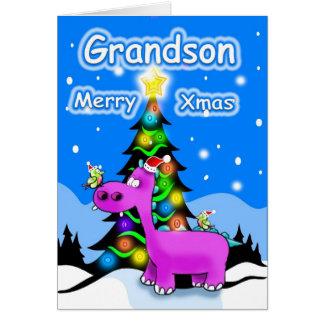 Felices Navidad del nieto Tarjeta De Felicitación