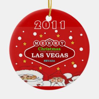 Felices Navidad del ornamento de Las Vegas Ornato