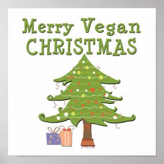 Felices Navidad del vegano Póster