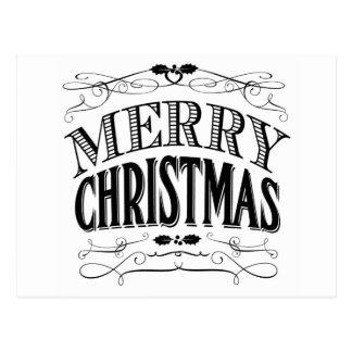 Felices Navidad del vintage moderno Postales