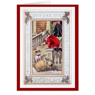 Felices Navidad del vintage - recepción a nuestra Tarjeta Pequeña