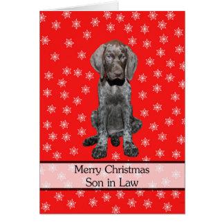 Felices Navidad del yerno brillante del grisáceo Tarjeta De Felicitación