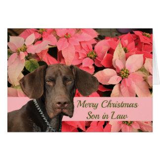 Felices Navidad del yerno brillante del grisáceo Tarjeta Pequeña