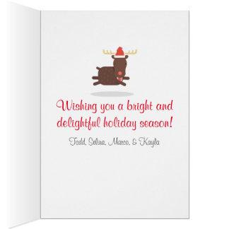 Felices Navidad día de fiesta gordo de Santa y del Tarjeta De Felicitación