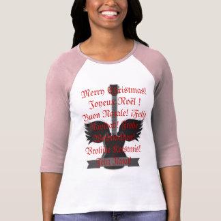 ¡Felices Navidad! en 6 idiomas Camiseta