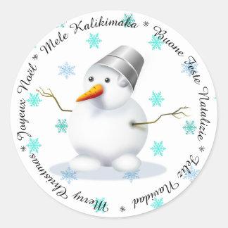 Felices Navidad en pegatina de los otros idiomas