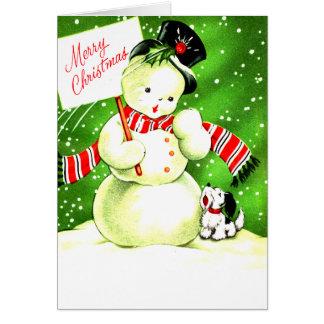 Felices Navidad escarchadas y PAL Tarjeta De Felicitación