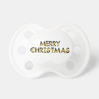 Felices Navidad escritas en potros flexibles Chupetes Para Bebés