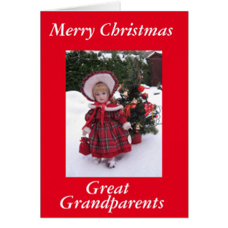 Felices Navidad, grandes - abuelos Tarjeta
