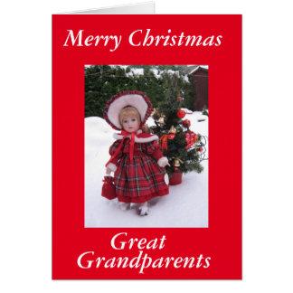 Felices Navidad, grandes - abuelos Tarjeta De Felicitación