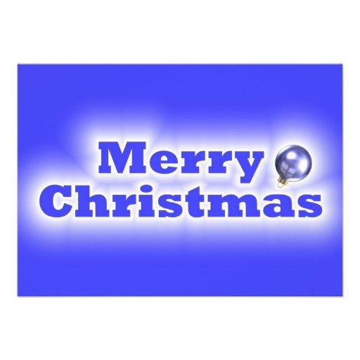 Felices Navidad heladas - azul Anuncio