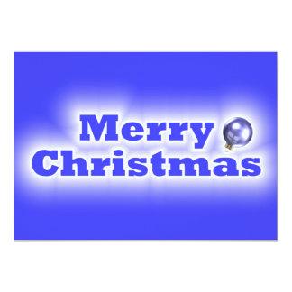 Felices Navidad heladas - azul Invitación 12,7 X 17,8 Cm