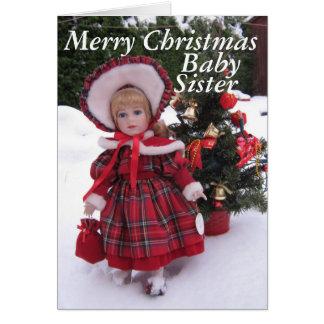 Felices Navidad, hermana del bebé Tarjeta De Felicitación