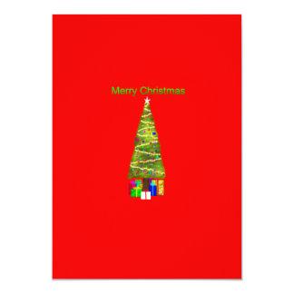 Felices Navidad Invitación 12,7 X 17,8 Cm