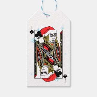 Felices Navidad Jack de clubs Etiquetas Para Regalos