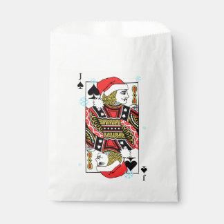 Felices Navidad Jack de espadas Bolsa De Papel