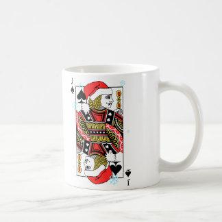 Felices Navidad Jack de espadas Taza De Café