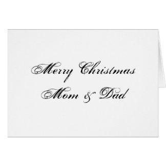 Felices Navidad mamá y tarjeta del papá