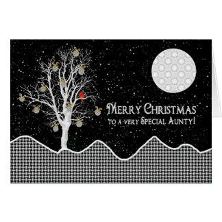Felices Navidad, modelo negro/blanco de la tía, Tarjeta De Felicitación