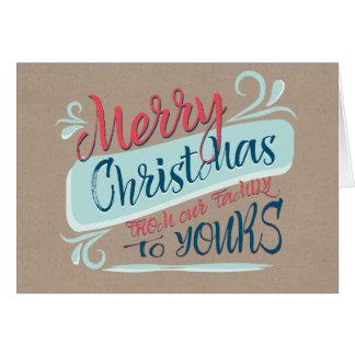 Felices Navidad modernas de nuestra familia el Tarjeta De Felicitación