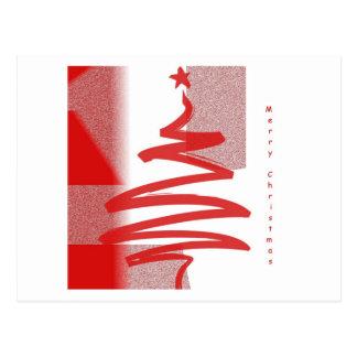 Felices Navidad modernas Postal