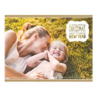 Felices Navidad muy y postal de la Feliz Año Nuevo