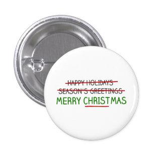 Felices Navidad, no los saludos de la estación Chapa Redonda De 2,5 Cm